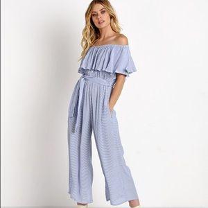 Faithfull The Brand Holiday Jumpsuit Stripe Print